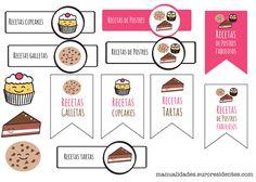 Imprimibles gratuitos http://manualidades.euroresidentes.com/2014/01/etiquetas-para-postres.html