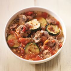 Healthier Sausage Pizza Soup - This is delicious. I have made it at least 8 times now!