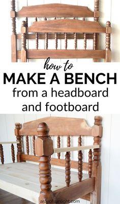 Headboard Bench Step by Step Tutorial - Martha Lear