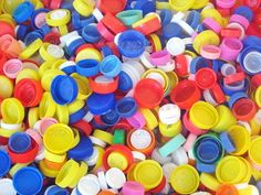 plastic caps ready to be recycled ...  batteries, bottle, bottles, cap, cover…