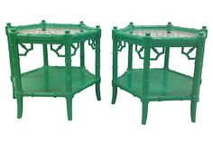 Faux-Bamboo     Side Tables, Pair on OneKingsLane.com $1295 lacquered vintage  Unabashed Color