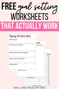 These goal setting worksheet templates are incredible! They have completely transformed my goal setting and given me ideas to actually achieve the goals in my life. You have to try these goal setting printable worksheets because these free goal setting printables will help you make your dreams a reality. #goalsetting #goals #productivity