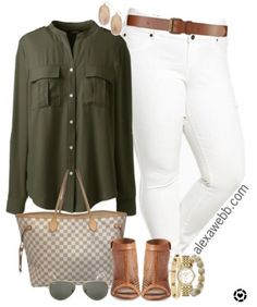6803fa9d29140a New Blog Post: Plus Size White Jeans Outfits. 🌿 All items linked at  alexawebb
