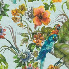 Tropic papegaaien reliefbehang 300152 uit de collectie Faro 4 van AS Creation is verkrijgbaar bij kleurmijninterieur