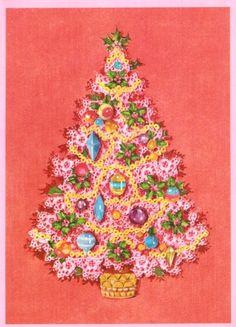 Leuke vintage kerstboom.
