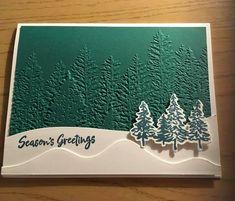 Homemade Christmas Cards, Stampin Up Christmas, Christmas Cards To Make, Christmas Settings, Christmas In July, Christmas Greeting Cards, Homemade Cards, Holiday Cards, Christmas Crafts