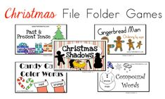 5 Free Christmas File Folder Games