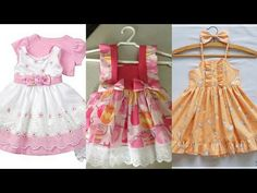 Dress Sewing Tutorials, Baby Frocks Designs, Frock Design, Baby Sewing, Flower Girl Dresses, Summer Dresses, Stylish, Wedding Dresses, Youtube