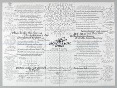 The Seasons: Extracts from 'The Land' by Vita Sackville West - Crafts Study Centre - VADS - online resource for visual arts Calligraphy Letters Alphabet, Vita Sackville West, Printing Ink, Modern Calligraphy, Visual Arts, Lettering, Scripts, Words, Handwriting