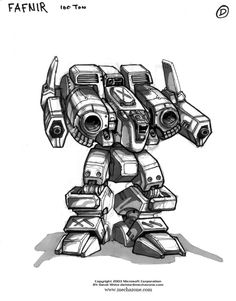 MechWarrior 4 Fafnir by *Mecha-Master on deviantART
