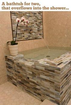 Cool bathtub design ideas:The coolest bathtub for two.