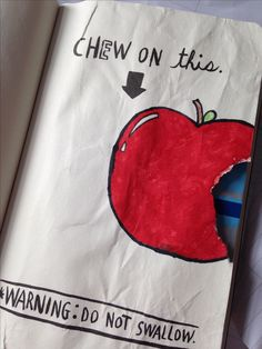 Chew on this, my wreck this journal page