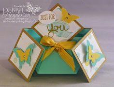 Debbie's Designs: Double Diamond Fold Card!