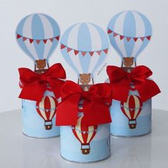 Trendy Baby Shower Ides For Boys Airplanes Air Balloon Baby Shower Favors, Baby Shower Signs, Baby Shower Parties, Baby Shower Themes, Baby Shower Decorations, Hot Air Balloon Party, Balloon Birthday Themes, Airplane Party, Baby Shower Vintage