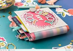Paige Taylor Evans: You Are Loved Mini Album by Bea Valint Mini Albums, Diy Mini Album, Mini Photo Albums, Mini Album Tutorial, Mini Album Scrapbook, Scrapbook Paper, Scrapbook Supplies, Chicken Scratch Embroidery, Smash Book