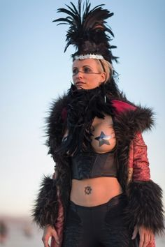 Dark alternative styles at Burning Man