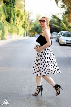 Black & white polka dots 3- outfit - DoYouSpeakGossip.com