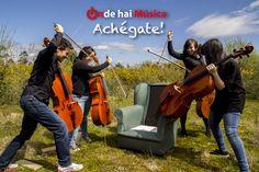 O que che pode pasar se non te achegas á música ;)  Gracias Soncello Quartet e Xaime Cortizo (fotografía)  http://ondehaimusica.galiciasustentable.org