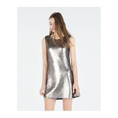 zara sequined dress   Silver sequined dress, new with tag. Zara Dresses
