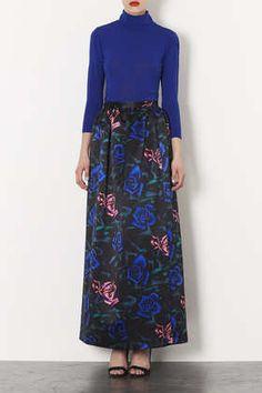Rose Satin Maxi Skirt
