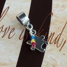 Sterling Silver Asperger's Syndrome, PDD, Autism Awareness Charm Bead, European Style by ShadesofAwareness on Etsy https://www.etsy.com/listing/115639259/sterling-silver-aspergers-syndrome-pdd