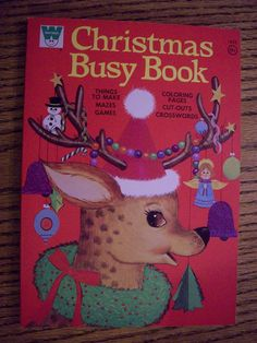 Christmas Busy Book by Whitman, 1972