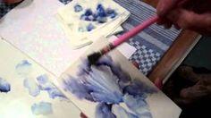 Chris Ryder - IRIS - Porcelain Painting Iris - YouTube