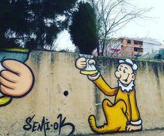 By Semi O.K – In Kocaeli, Istanbul (3 photos) Street Art Utopia, Street Art Graffiti, Istanbul, Disney Characters, Fictional Characters, Photos, Pictures, Graffiti Artwork, Fantasy Characters