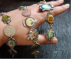 Gypsy style trinket bracelets made from souvenir spoons.