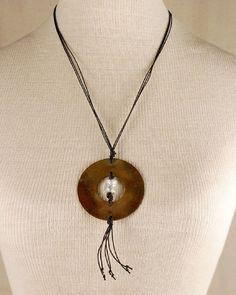 #handcraftedjewelry #brassjewelry #statementnecklace #pendant  @metallocraft