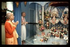 Srila Prabhupada at the Baltimore Temple