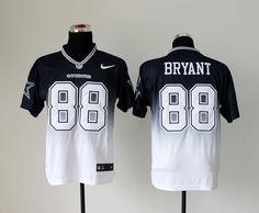 fb90af775 ... Nike Dallas Cowboys 88 Dez Bryant Blue White Drift Fashion II Elite NFL  Jerseys ...