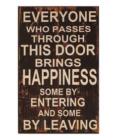 Loving this 'Everyone' Wall Sign on #zulily! #zulilyfinds so much that I had to go ahead and buy it :)