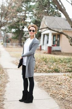 love this fashion forward look that is still subdued by the neutral colors