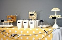 yellow and gray owl Gender Reveal Party | Gender Reveal Party (yellow and gray) | Modern Party Ideas