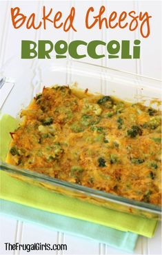 Baked Cheesy Broccoli Recipe! ~ from TheFrugalGirls.com ~ your entire family will look forward to this easy, delicious veggie dish topped with cheese! Make it for a dinner side, or add it to your holiday menu! #vegetable #recipes #thefrugalgirls