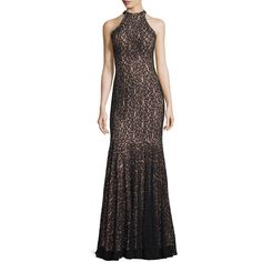 Jovani Beaded Lace Mermaid Gown ($650) ❤ liked on Polyvore featuring dresses, gowns, sleeveless dress, lace mermaid gown, beaded evening gowns, sleeveless lace dress and beaded dress