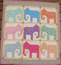 Image result for Baby Quilt Patterns Free Printable Elephant