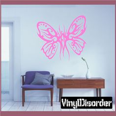 Butterfly Wall Decal - Vinyl Decal - Car Decal - CF341