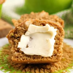 Healthy whole wheat zucchini muffins made with apples. The right amount of sweet and wholesome, these kid-approved apple zucchini muffins freeze well and are great for breakfast or snack time. A great way to use up your summer zucchini! Muffin Recipes, Apple Recipes, Baby Food Recipes, Sweet Recipes, Dessert Recipes, Cooking Recipes, Cooking Rice, Cooking With Kids, Cooking Light
