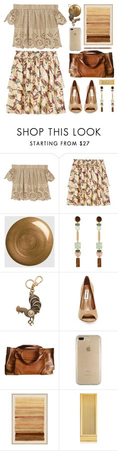 """getting warmer..."" by foundlostme ❤ liked on Polyvore featuring Sea, New York, Maison Scotch, Gucci, Henri Bendel, Steve Madden, Speck, WALL, Lipstick Queen, Lord & Berry and showsomeshoulder"