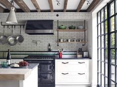 West Village Townhouse, Kitchen, New York, BWArchitects Style Oriental, Crittall, Open Staircase, Eco Architecture, Interior Decorating, Interior Design, West Village, Pent House, Decoration