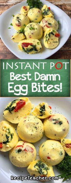 Make the best damn Instant Pot egg bites! So rich, creamy and delicious. #instantpot #eggbites