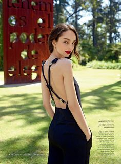Model Luma Grothe is ready for spring on the February 2016 cover of Air France Madame. The brunette stunner poses in a black jumpsuit with a fishtail braid parted to the side in the David Mushegain-lensed image. Inside the magazine, Luma poses in Buenos Aires, Argentina, for a colorful shoot featuring the spring collections. Art …