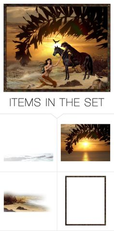 """""""The knight and the siren"""" by mamierosie ❤ liked on Polyvore featuring art"""