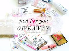 """Just For You"" International Giveaway Collaboration"