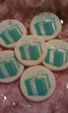 18 Tiffany White and Blue Decorated Images by AlisSweetTooth, $15.00