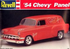 1954 Chevy Panel Truck Street Rod (1/25) (fs)