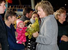 "King Philippe and Queen Mathilde of Belgium visited Zeebrugge 'Vismijn', the fish auction market on November 9, 2016 in Zeebrugge, Belgium. (The term ""Vismijn"" (literally, fish 'mine' or market) was formerly used quite often, in view of the fact that the candidate buyer showed that he wanted to buy a lot of fish by calling ""mine"" (me). Nowadays the fish is not sold any longer by means of calling down and calling. At present the fish is sold by means of an electronic clock fed by a computer…"