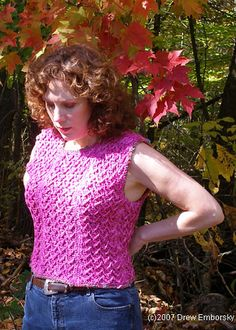 Free Crochet Pattern - Cottony Vest by Drew Emborsky, The Crochet Dude(R)!